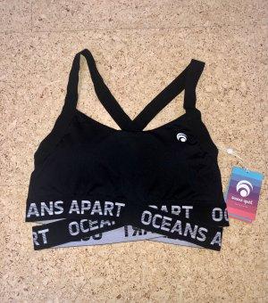 oceans apart Top deportivo sin mangas negro poliamida
