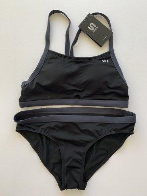 Syrokan Bikini noir-bleu foncé
