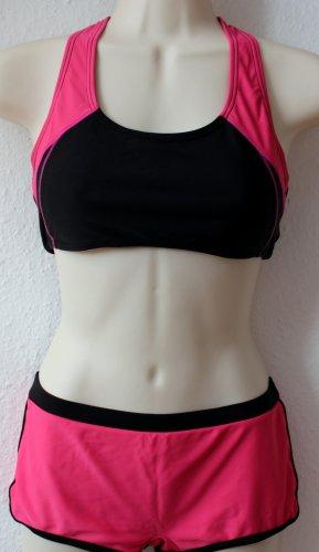 Sport Bikini, pink schwarz