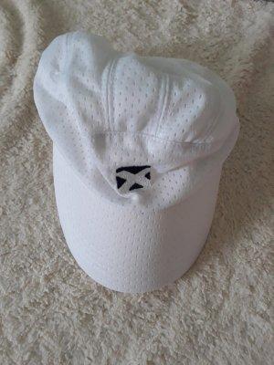 Baseballówka biały-ciemnoniebieski Poliester
