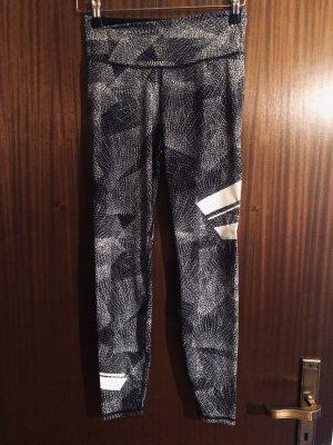 H&M pantalonera gris-blanco