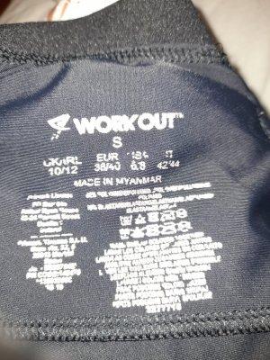 Workout Pantalon de sport noir-bleu