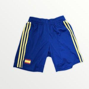 Adidas Short de sport bleu foncé-jaune