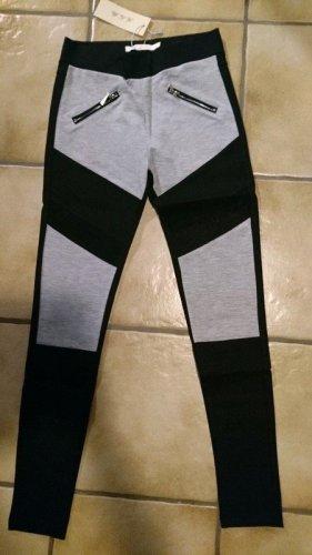Sport-Hose (B13938) / Stoffhose / Leggings in grau/schwarz Größe L