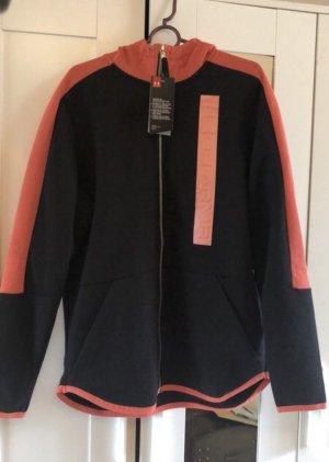 Under armour Hooded Sweatshirt black-salmon
