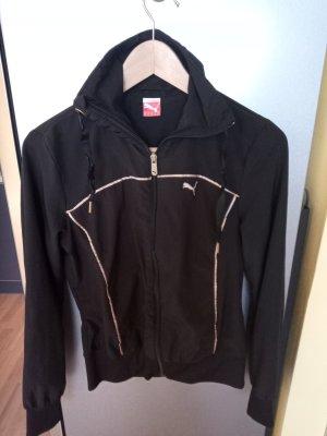 Puma Chaqueta deportiva negro-color bronce