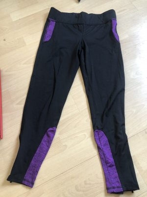 Andrew Marc New York Leggings negro-violeta oscuro