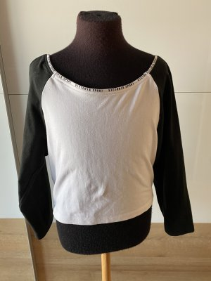 Victoria's Secret Cropped shirt wit-zwart