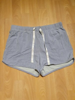 Tchibo / TCM Sport Shorts white-light blue cotton