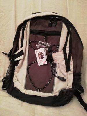 Plecak na kółkach brązowy-kremowy
