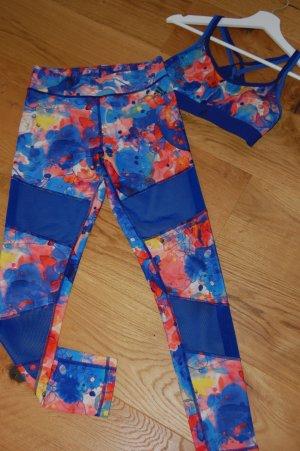 Adidas Spodnie sportowe Wielokolorowy Tkanina z mieszanych włókien