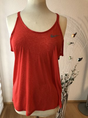 Nike Dri-FIT Top sportowy pomarańczowy-czerwony