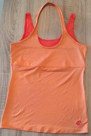 Top sportowy pomarańczowy-czerwony