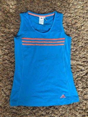 Adidas Maglietta sport blu neon