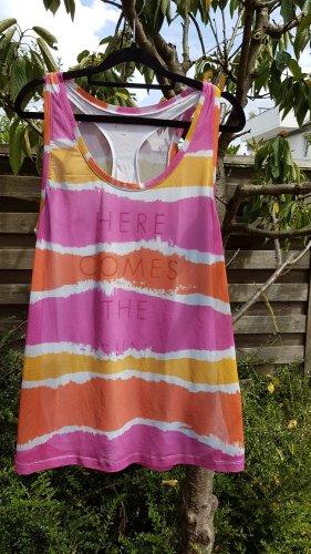 active Sportshirt oranje-roze