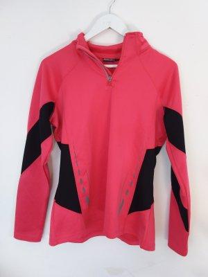 Crivit Sports Shirt black-magenta polyester