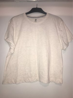 H&M Basic Maglietta sport bianco sporco