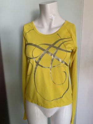 Asics T-shirt de sport jaune-argenté