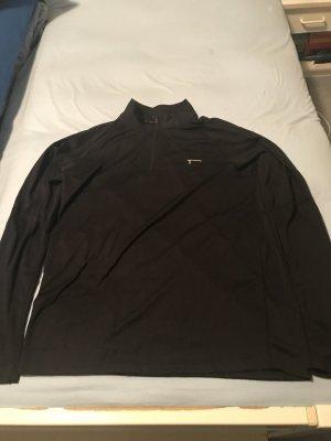 Sport Shirt Langarm schwarz Wabenmuster Größe XL – ungetragen
