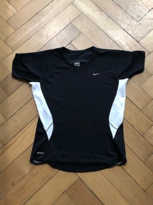 Sport-Shirt Nike Fit Dry M, D 38/40, schwarz/weiß, NEUWERTIG,