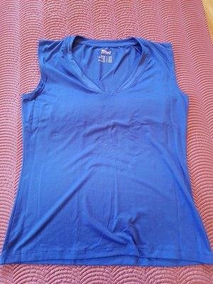 Sport Shirt, V-Ausschitt, kräftiges Blau