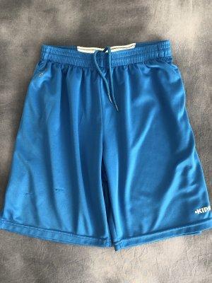Kipsta Pantalon de sport bleu fluo-blanc