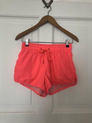Sport Shorts Koralle leuchtend H&M Sports Size 38