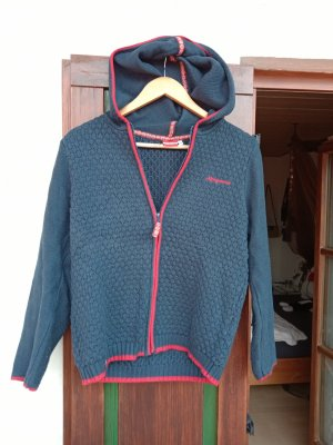 Almgwand Cardigan blue wool
