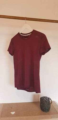 Adidas Sports Shirt bordeaux-purple polyester