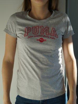 Puma Maglietta sport verde-grigio Cotone