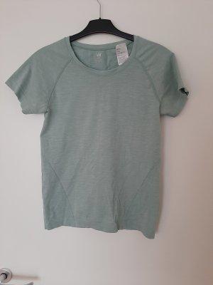 H&M Sportshirt munt-groen Polyester