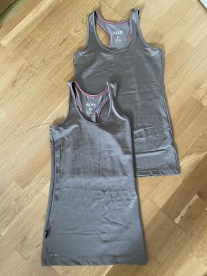 Alex Athletics Sportshirt groen-grijs Polyamide