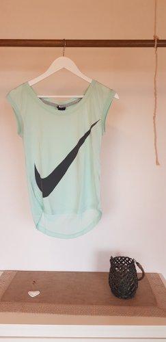 Nike Sports Shirt azure-baby blue cotton