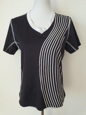 Sport T-Shirt Sporttop NKD Fitness Shirt Gr. XL 42 schwarz weiß