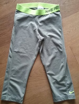 Nike Sportbroek zilver-limoen geel Gemengd weefsel