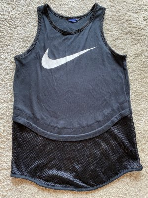 Nike Débardeur de sport noir-blanc