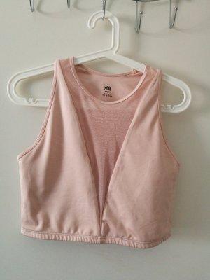 H&M Maglietta sport salmone-rosa pallido