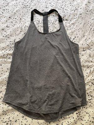 H&M Top deportivo sin mangas gris-negro