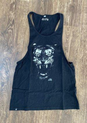 Black by EMP Koszulka o kroju podkreślającym sylwetkę czarny-biały Bawełna