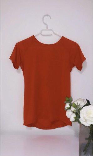 Sport top oberteil shirt tshirt rot fitness gym red