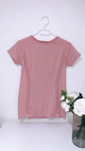 Sport top tshirt oberteil pink rosa rose gym fitness