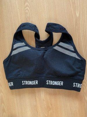 Stronger Débardeur de sport noir-blanc