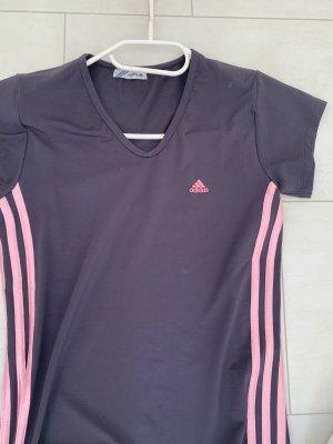 Maglietta sport grigio ardesia-rosa