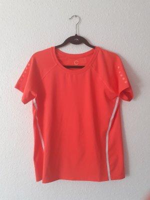 Sport Tshirt von Cubus Größe L Orange neon Sportshirt