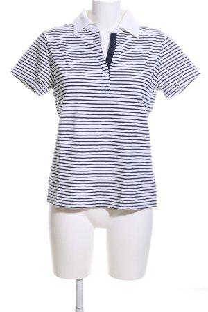 Sportables Polo-Shirt weiß-schwarz Allover-Druck Casual-Look