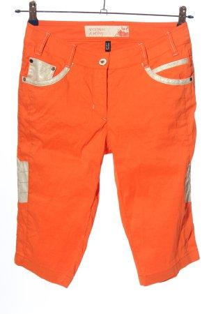 Sportalm Pantalone a 3/4 arancione chiaro stile casual