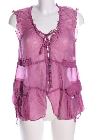 Sportalm ärmellose Bluse lila extravaganter Stil