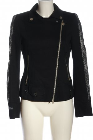 Sportalm Blouse Jacket black-white embroidered lettering business style