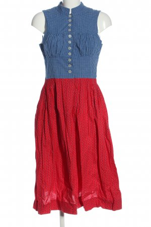 Sportalm Dirndl blue-red flower pattern classic style