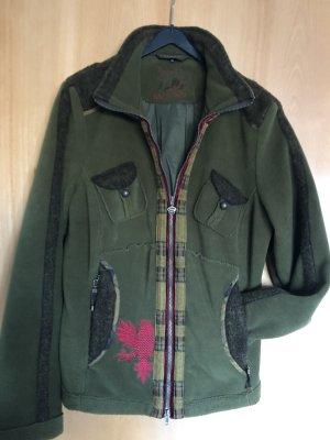 Sportalm Fleece-Jacke, Größe 40, Tannengrün